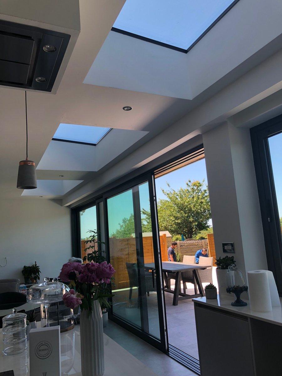 atlas flat rooflight kitchen diner cardiff